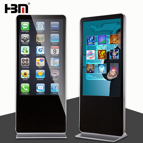 55 inch floor standing screen windows system advertising player touch screen kiosk