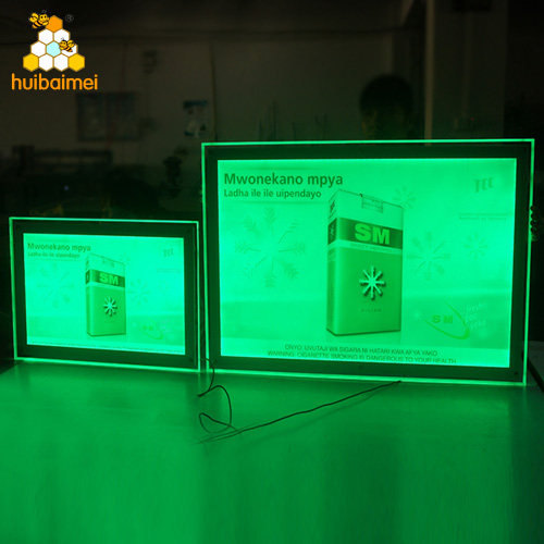 Factory Price Customized Advertising Acrylic Super Slim Crystal LED light box