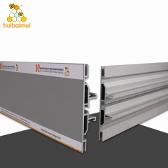 6063 aluminum extrusion profile two sided 120mm frameless fabric light box frame
