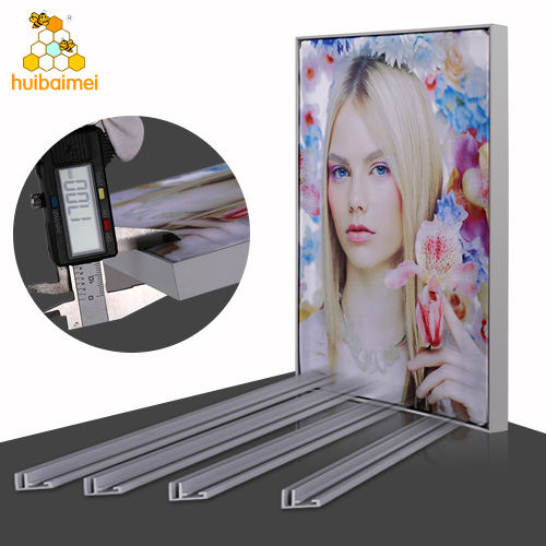 Online shop 17mm aluminum fabric poster frame for advertising display light box
