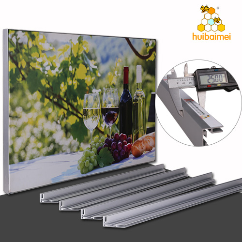 high quality led poster picture frame 25mm 35mm 2 side uses frameless aluminium extrusion profile