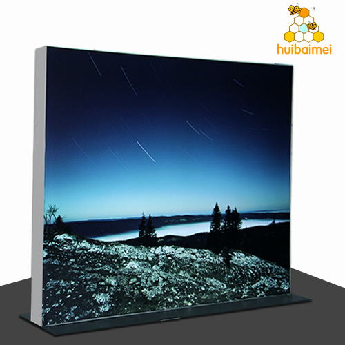 160mm double side aluminum frameless led edge lit fabric canvas light box