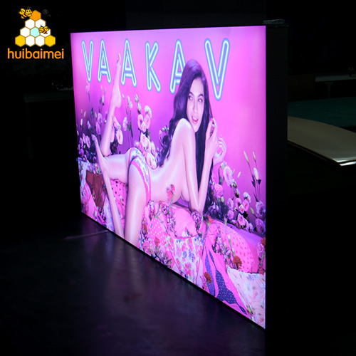 Outdoor advertising 120mm side-snap aluminum frame LED tension fabric lightbox