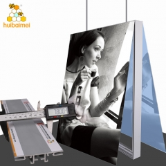 Tradeshow fabric light box 78mm double sided no lighting exhibition booth light box