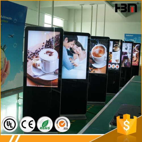 42-65inch floor standing advertising player touch screen kiosk