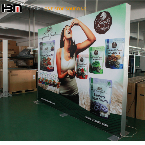 USA Exhibition advertising light box free standing double sided fabric lightboxes