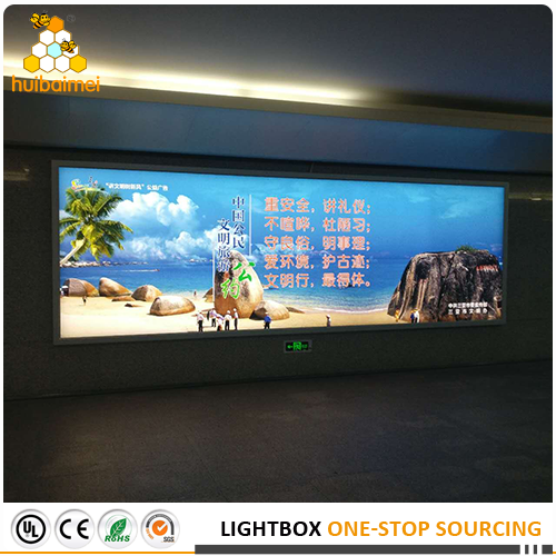 snap open HBMAX80-100 for outdoor fabric light box