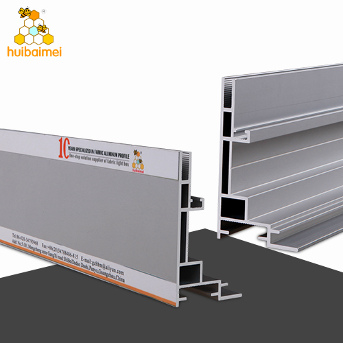 Single side 80mm anodized aluminum extrusion fabric picture profile frame with edgelit LED