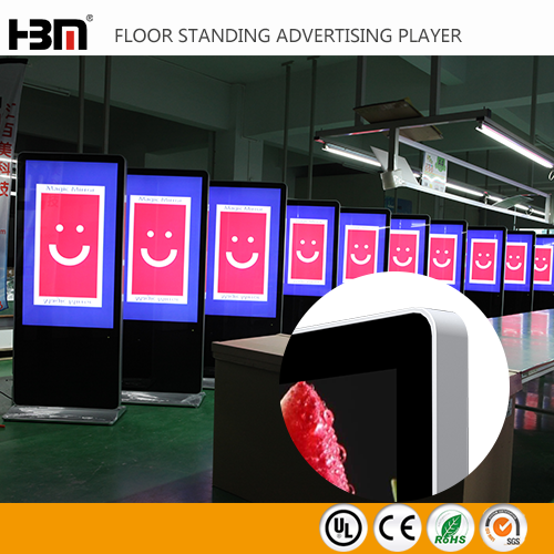 45mm thick new design floor stand android system led advertising player