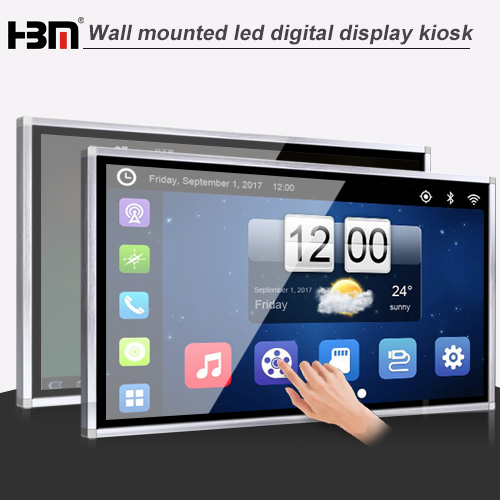 50inch wall-mounted network touch screen kiosk advertising player