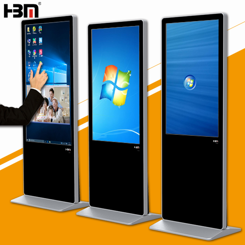 42''Floor standing window system lcd  monitor usb media advertising player sign