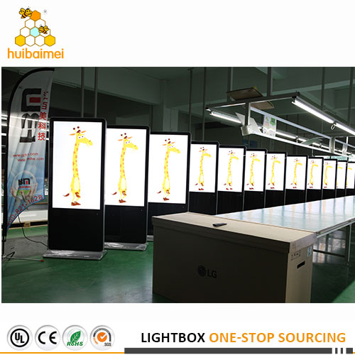 Export single side fabric lightbox and network advertising player with 20'Container