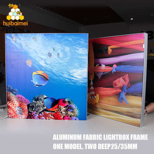 manufacture frameless advertising light box 25mm 35mm LED backlit fabric light box