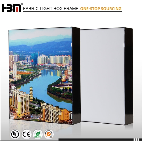 exhibition trade show signage aluminum frameless SEG photography light box LED display