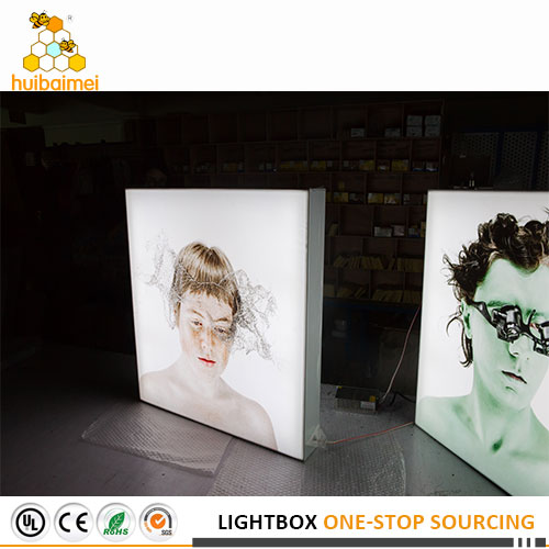100mm double sided aluminum frame light box advertising sign board