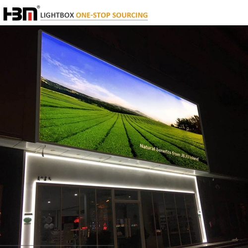 120mm large size waterproof outdoor advertising led backlit light box,business billboard sign display