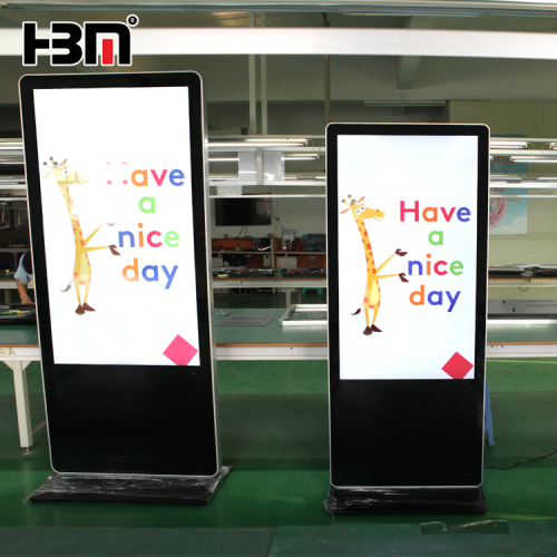 shopping mall standing digital signage led android kiosk display with WIFI 4G