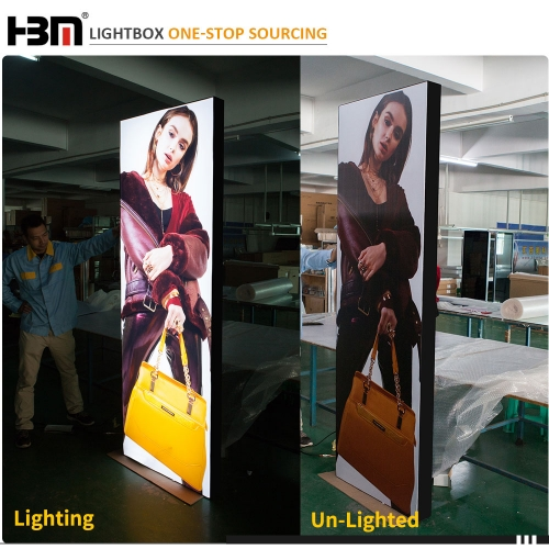 100mm black aluminum profile backlit fabric led light box