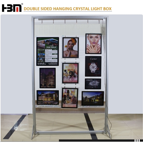 Magnetic type double side real estate signs led crystal acrylic light box for advertising display