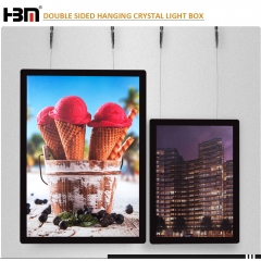 new slim LED window displays acrylic photo frame light box A4 A3 A2 A1 hanging crystal light box