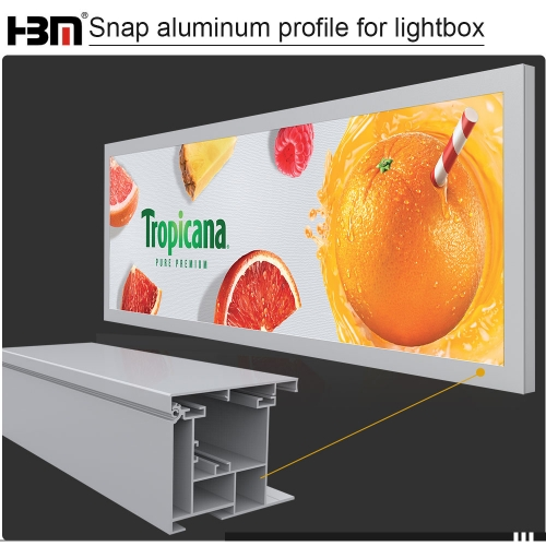 national standard strengthen update aluminum profile for large light box