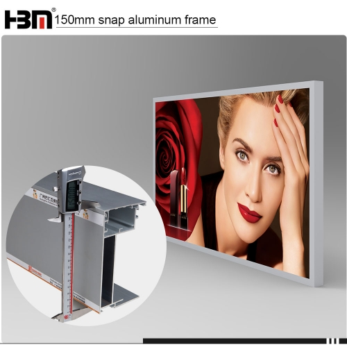 aluminium display picture frame profile fabric seg frame for outdoor advertising light box