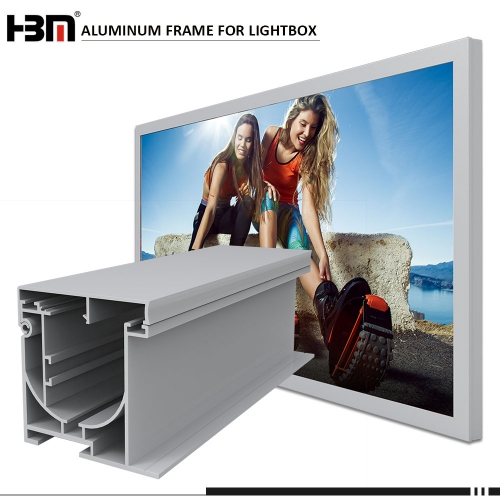 100mm thickness seg aluminum profile textile aluminum light box extrusion for outdoor sign light box