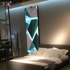 high quality frameless backlit fabric LED advertising light box for wall decoration