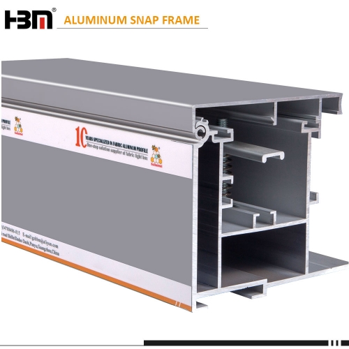 Engineer outdoor 120mm depth thickend front open aluminum fabric  frame with windproof bracket