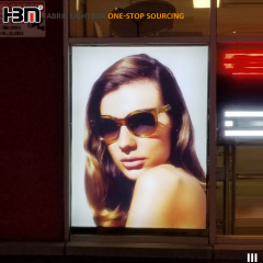 Textile Fabric Frameless Advertising Display LED Backlit Light Box For Window Display
