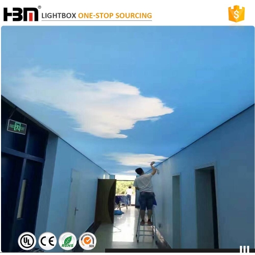 120mm thickness ceiling aluminum backlit advertising led fabric light box display