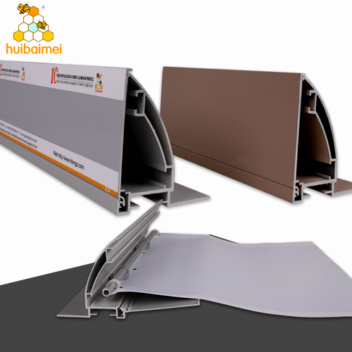 aluminum anodized profile extrusion side cover open 80mm frameless outdoor lightbox side-snap fabric aluminum frame