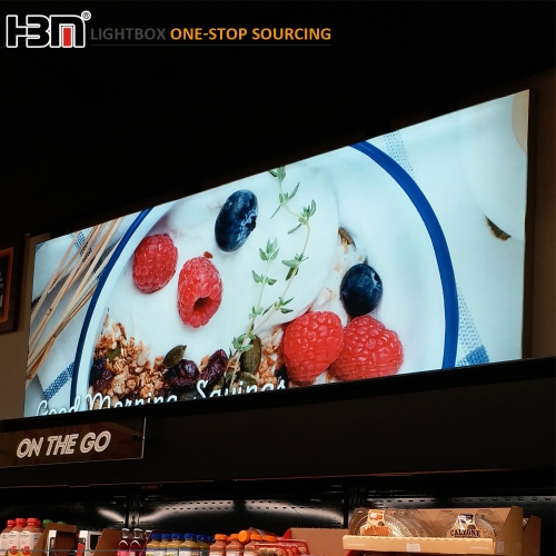 supermarket seg lightbox custom led frameless fabric light box with aluminum frame
