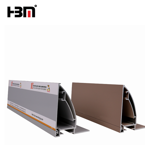 80mm slim aluminum anodized profile extrusion frame for square waterproof advertising fabric light box