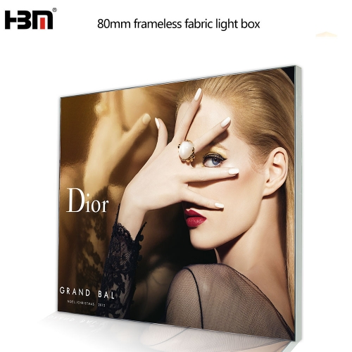 factory price guangzhou hbm fabric tension backlit light box with extrusion aluminum frame