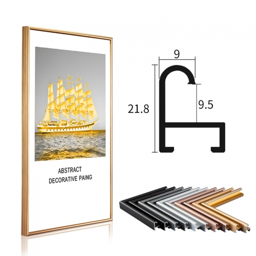 Metal Material photo frame Picture frame family photos Brushed Metal Aluminum Picture Photo Frame