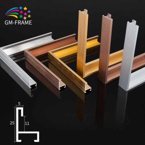 Wall mount picture display frame aluminum photo frame mouldings for phot frame wholesale