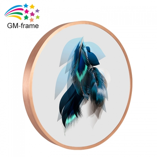 High Quality Posters Wall Art Round Aluminum Pofile Photo Frame